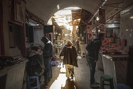 摩洛哥老市场街景图片