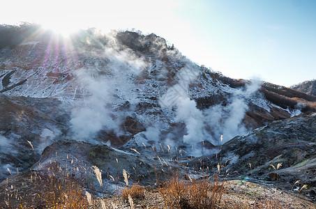 日本登别地狱谷图片