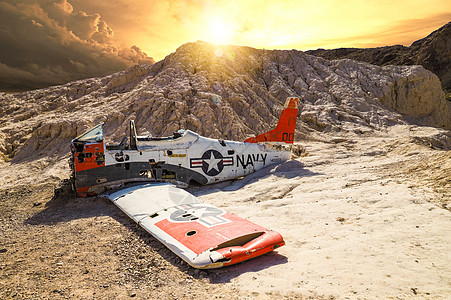 美国内华达州鬼城飞机图片