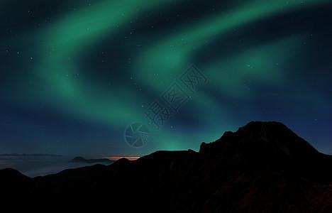 夜空极光图片