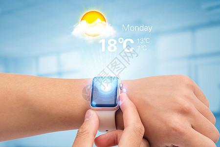 手表上的智能天气预报图片