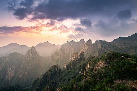 黄山山巅黎明图片