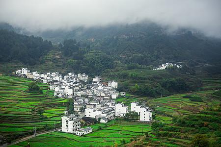 安徽烟雨村落图片