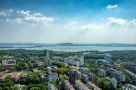 远眺武汉东湖图片