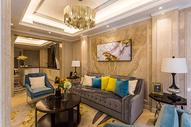 宽敞舒适的欧式风格客厅图片