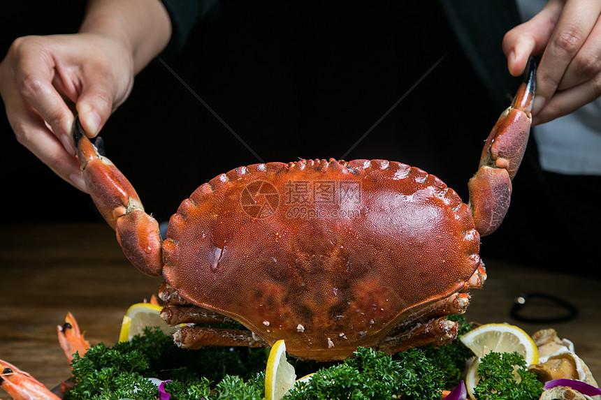 红毛蟹拼盘图片