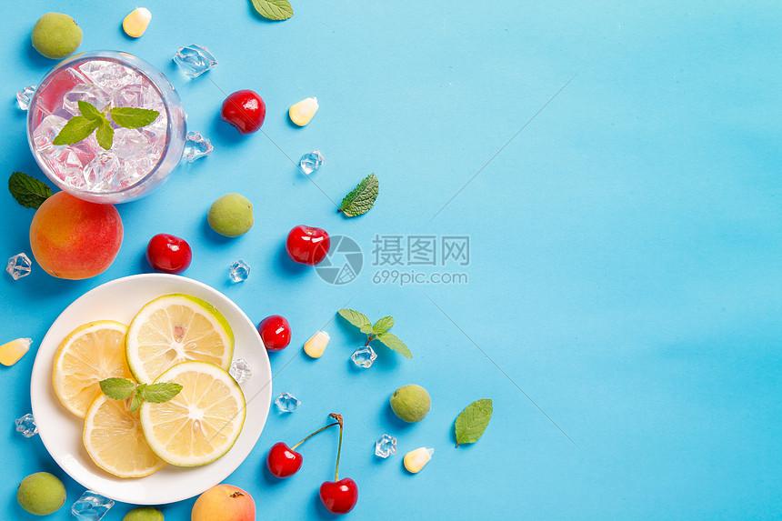 冰爽柠檬片图片