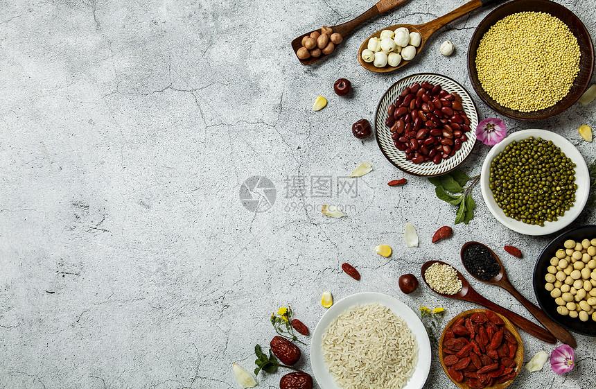 夏季五谷食材图片