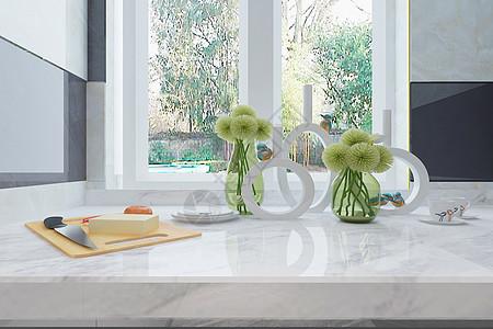 现代厨房台面图片