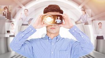 VR眼镜体验虚拟现实图片