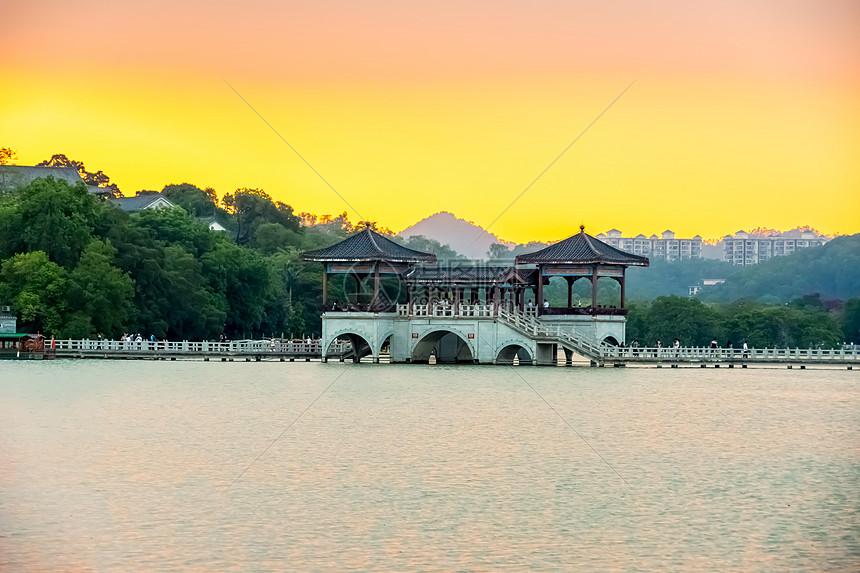 广东城市自然风光背景图片