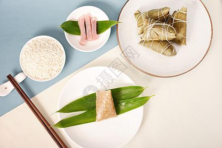 小清新的端午粽子图片