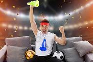 球迷观看世界杯图片