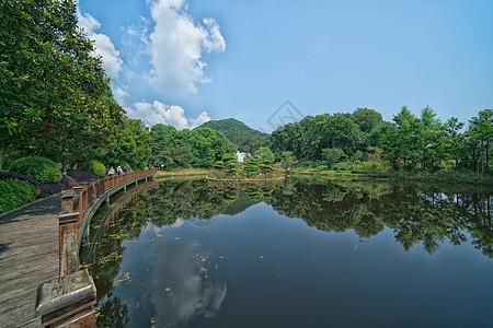 武汉小九寨沟木兰天池的水图片