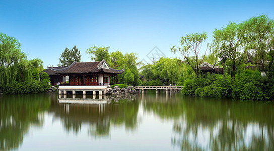 千灯古镇园林图片