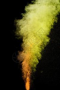 色彩粉末背景图片