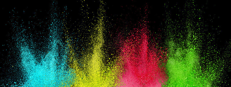 色彩粉尘喷溅背景图片