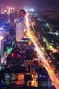 武汉长江边的城市夜景图片