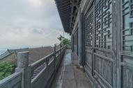 武汉木兰山顶的古建筑图片