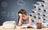孩子的学习压力图片