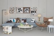 沙发单椅组合现代家居图片