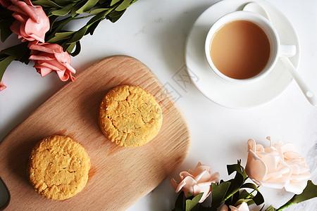 休闲时刻饮下午茶吃点心图片