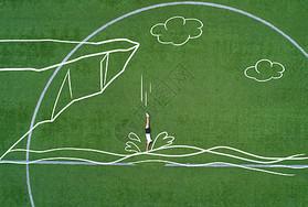 创意航拍校园图片