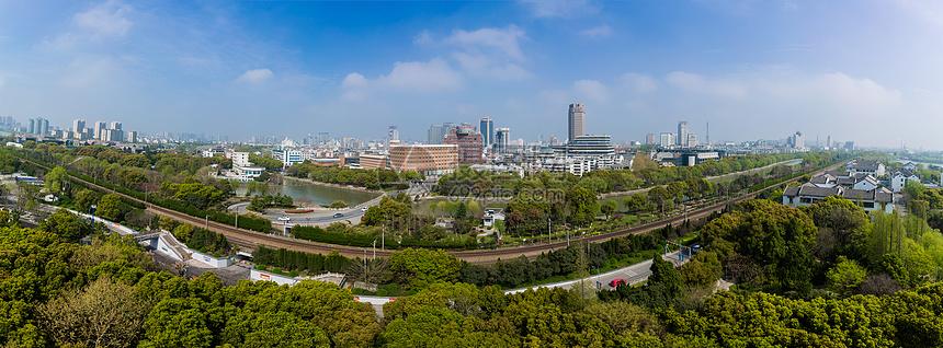 嘉兴城市全景风光图片