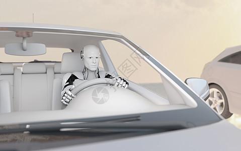 机器人驾驶图片