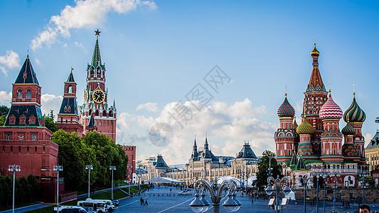 俄罗斯莫斯科红场教堂图片
