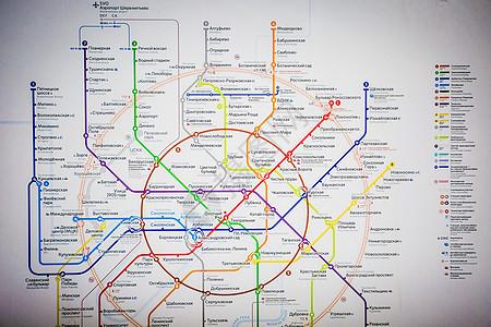 俄罗斯莫斯科轨道交通运行图图片