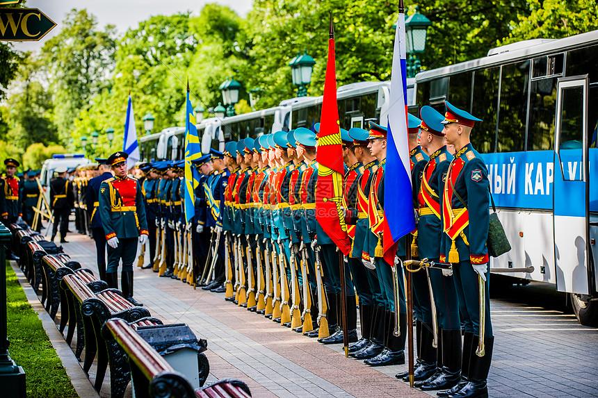 俄罗斯三军仪仗队图片