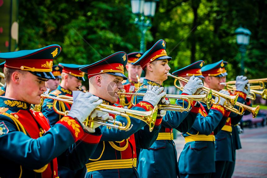 俄罗斯礼宾军乐队图片