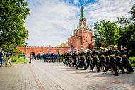 俄罗斯红场仪仗队阅兵图片