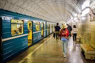 俄罗斯莫斯科地铁图片