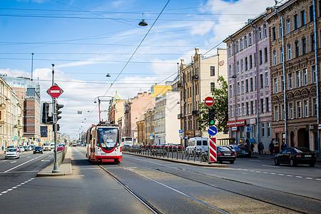 俄罗斯交通有轨电车图片