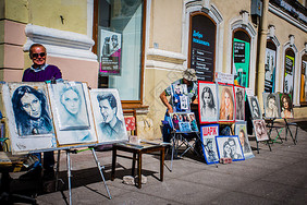 俄罗斯街头艺术画像图片