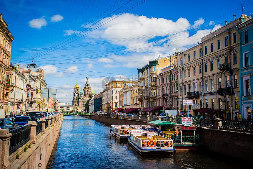 俄罗斯圣彼得堡滴血大教堂图片