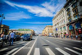 俄罗斯圣彼得堡建筑交通出行图片