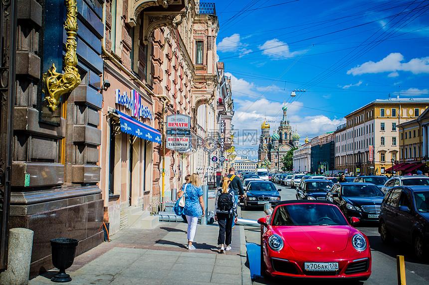 俄罗斯圣彼得堡教堂图片