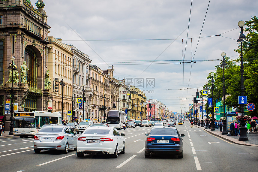 俄罗斯圣彼得堡建筑与街道图片