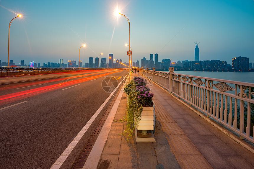 武汉沙湖大桥风景图片