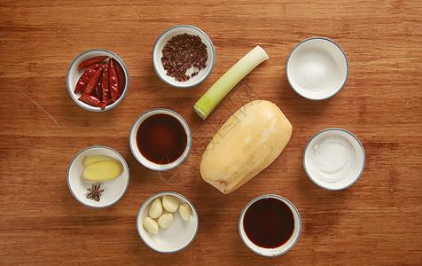 炒藕片食材图图片