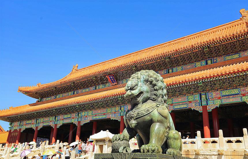 北京故宫太和门图片