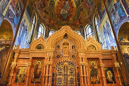 俄罗斯圣彼得堡滴血救世主大教堂图片
