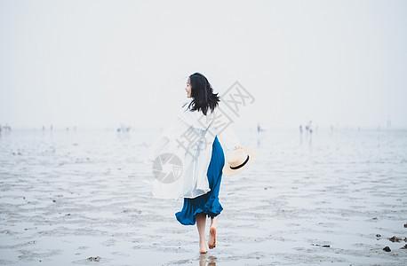 海滩女神图片