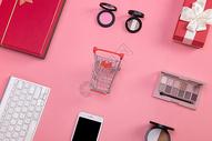 时尚购物背景素材图片
