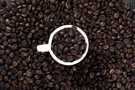 咖啡豆手绘背景