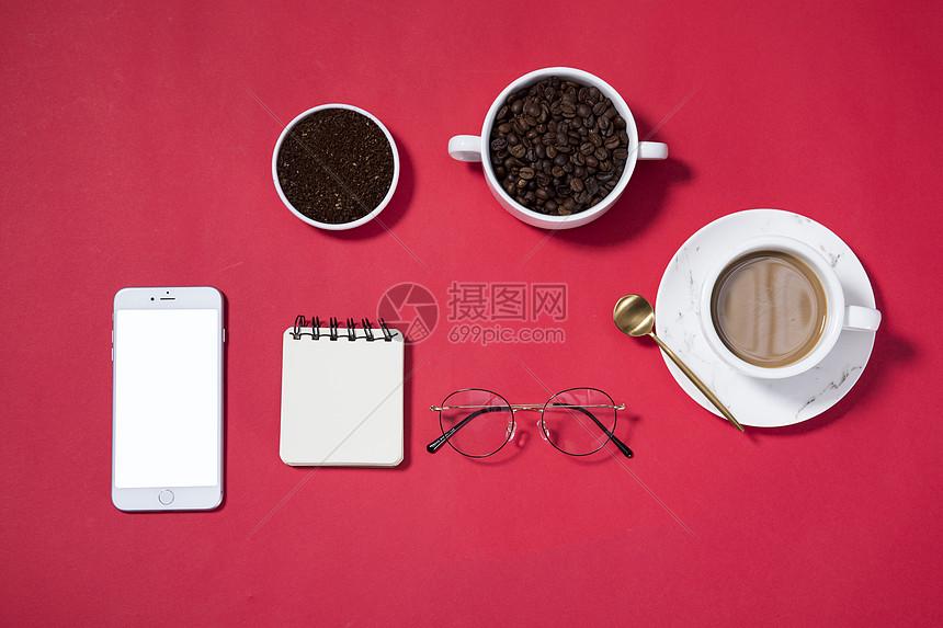 咖啡静物摆拍图片