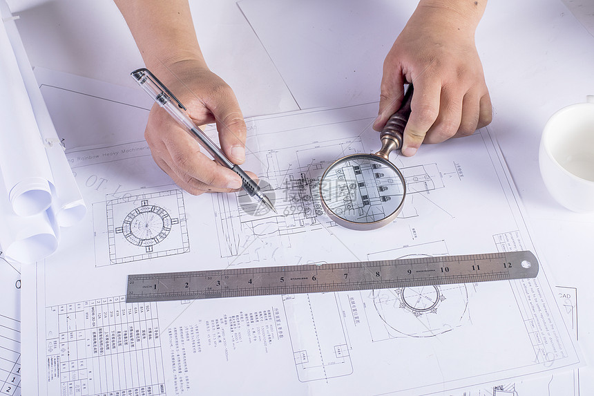 工程图纸的绘制图片